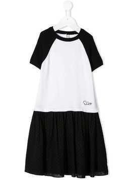 Baby Dior two-tone logo dress - Black