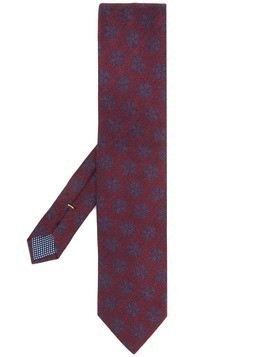 Eton all-over print tie - Purple