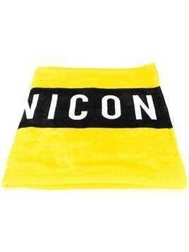 Dsquared2 Icon print beach towel - Yellow