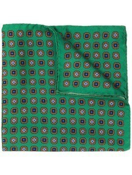 Eton all-over print pocket scarf - Green