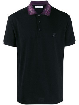 Versace Collection Medusa detail polo shirt - Black