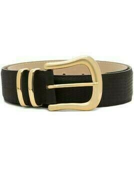Black & Brown Marina lizard-effect leather belt