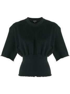 Ann Demeulemeester short-sleeve fitted top - Black