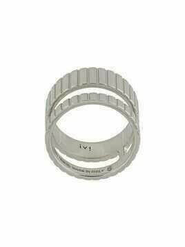 IVI Slot double-band ring - SILVER