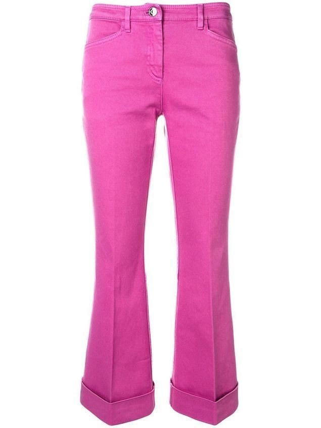 Nº21 cropped flared jeans - PINK