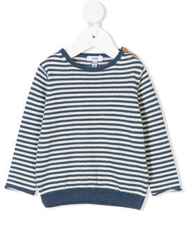 Knot striped fitted sweater - Blue