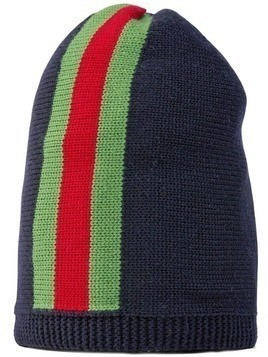 Gucci Kids Web knit beanie - Blue