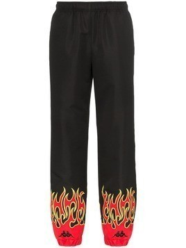 Charm's Fire print sweatpants - Black
