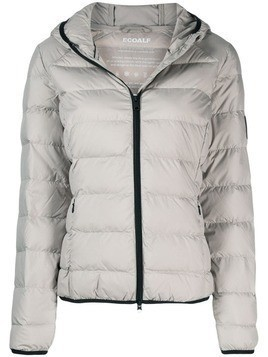 Ecoalf padded hooded jacket - Neutrals