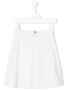 Señorita Lemoniez Pockets skirt - White