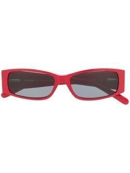 Missoni rectangular-frame sunglasses - Red