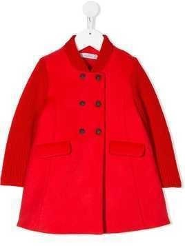 Baby Dior double-breasted fitted coat - Red