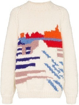 Bethany Williams intarsia knit sweater - White