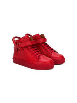Buscemi Kids lace-up sneakers - Red