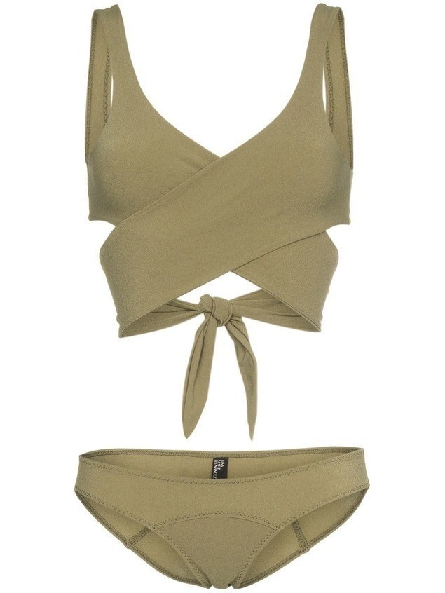 Lisa Marie Fernandez Wrap-around tie bikini - Green