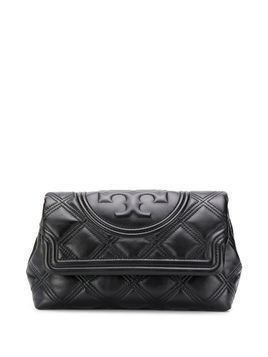 Tory Burch Fleming quilted clutch bag - Black