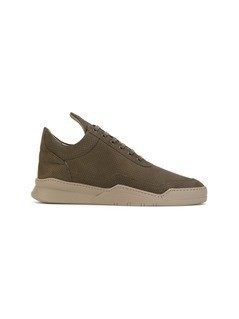 Filling Pieces perforated sneakers - Green