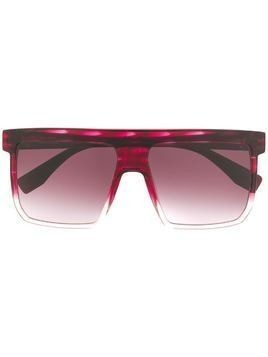 Vivienne Westwood oversized flat-top sunglasses - Red