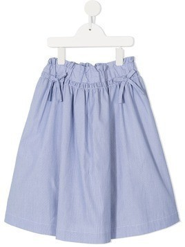 Familiar flared mini skirt - Blue
