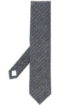 Eton floral embroidered tie - Black