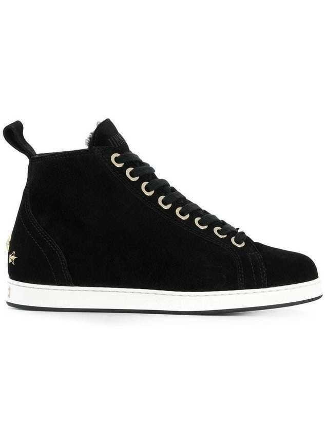 Jimmy Choo lace-up ankle sneakers - Black