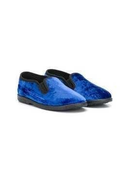 Pèpè flat two tone slippers - Blue