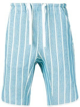 Corelate drawstring striped shorts - Blue