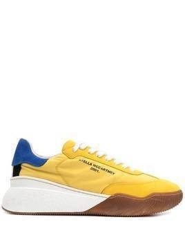 Stella McCartney Loop colour-block sneakers - Yellow