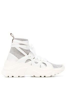 Agnona sock lined sneaker - White