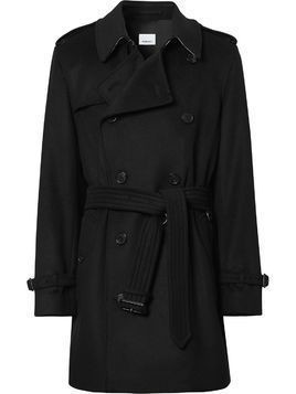 Burberry Vintage Check undercollar trench coat - Black
