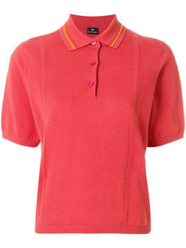 Ps By Paul Smith - short sleeve polo shirt - Damen - Cotton - S - Yellow & Orange
