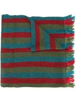 Issey Miyake Men striped scarf - Multicolour
