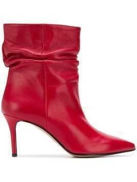 Marc Ellis ruched ankle boots - Red