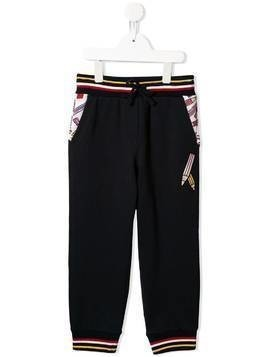 Dolce & Gabbana Kids pencil print track pants - Black