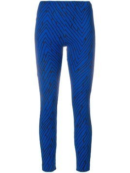 Emanuel Ungaro Pre-Owned geometric print leggings - Blue