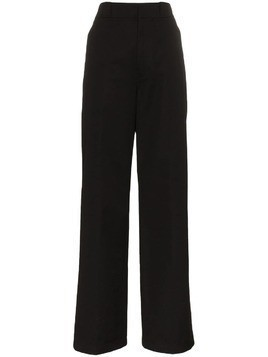 Prada cotton high waist trousers - Black