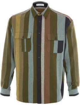 JW Anderson flannel striped shirt - Green