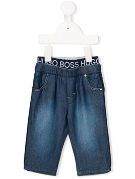 Boss Kids logo waistband trousers - Blue