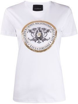 John Richmond sequin logo T-shirt - White