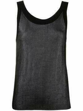 Laneus ribbed sleeveless top - Black
