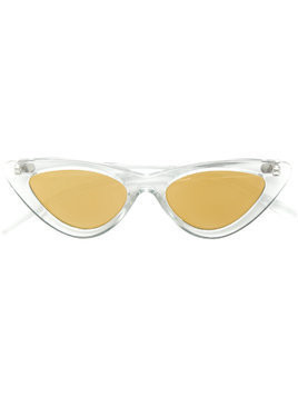 Le Specs classic cat-eye sunglasses - White