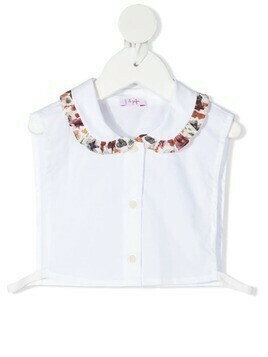 Il Gufo contrast-collar sleeveless blouse - White