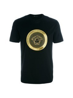 Versace embroidered Medusa T-shirt - Black