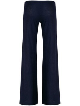 Fisico ribbed flared trousers - Blue
