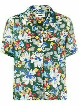 YMC floral-print short-sleeved shirt - Green