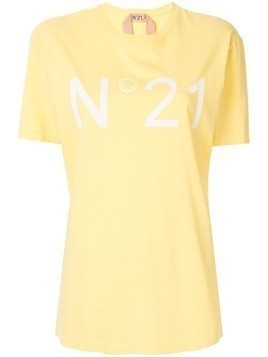 Nº21 oversized logo T-shirt - Yellow