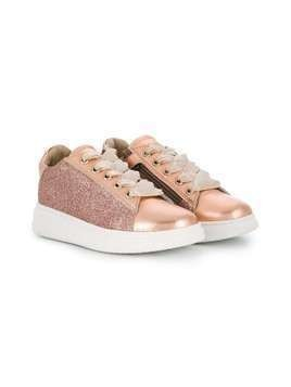 Harmont & Blaine Junior low-top glitter sneakers - PINK