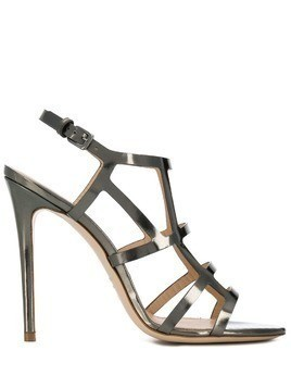 Deimille metallic strappy sandals - Silver