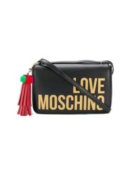 Love Moschino logo print crossbody bag - Black