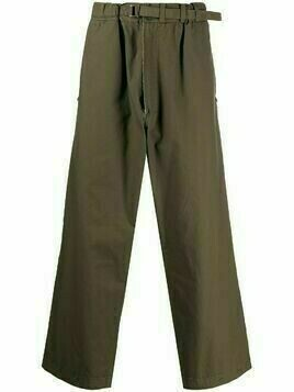 Yohji Yamamoto Pre-Owned 2000s loose-fit belted trousers - Green